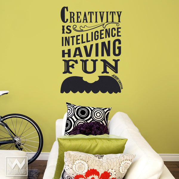 Einstein\'s Mustache Art Inspirational Wall Quote Saying Vinyl Decal ...