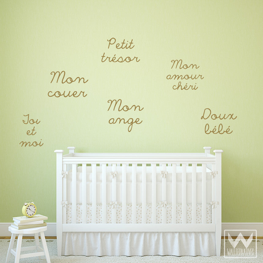 French Language Quote Saying Vinyl Decal Graphic Bedroom Wall Decor ...