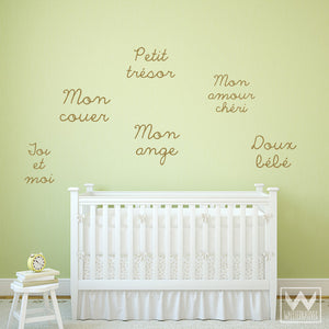 French Quotes and Phrases Vinyl Wall Decals for Nursery - Wallternatives
