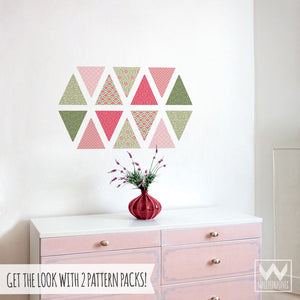 Pink and Green Girls Bedroom Decor - Easy DIY Removable Wall Decals