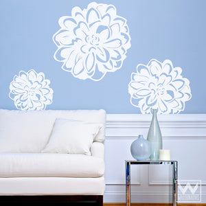Modern Flowers Vinyl Wall Decals - DIY Colorful Wall Art from Wallternatives