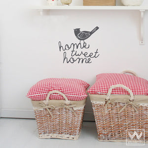 Wall Quotes and Bird Vinyl Wall Decals for Decorating Nursery Walls - Wallternatives