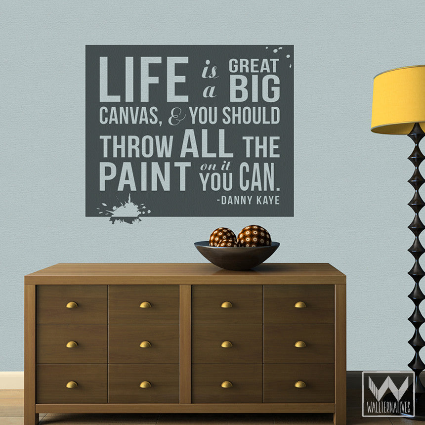 Adhesive wall quotes life is a canvas vinyl wall decals wallternatives