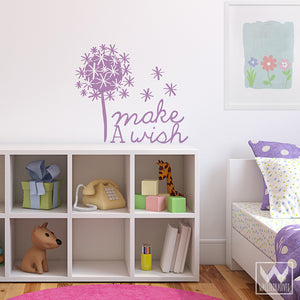 Inspirational Make a Wish Wall Quote Vinyl Wall Decals - Wallternatives