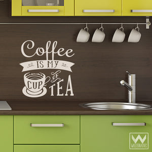 Coffee Quotes Kitchen Wall Art - My Cup of Tea Vinyl Wall Decals - Wallternatives