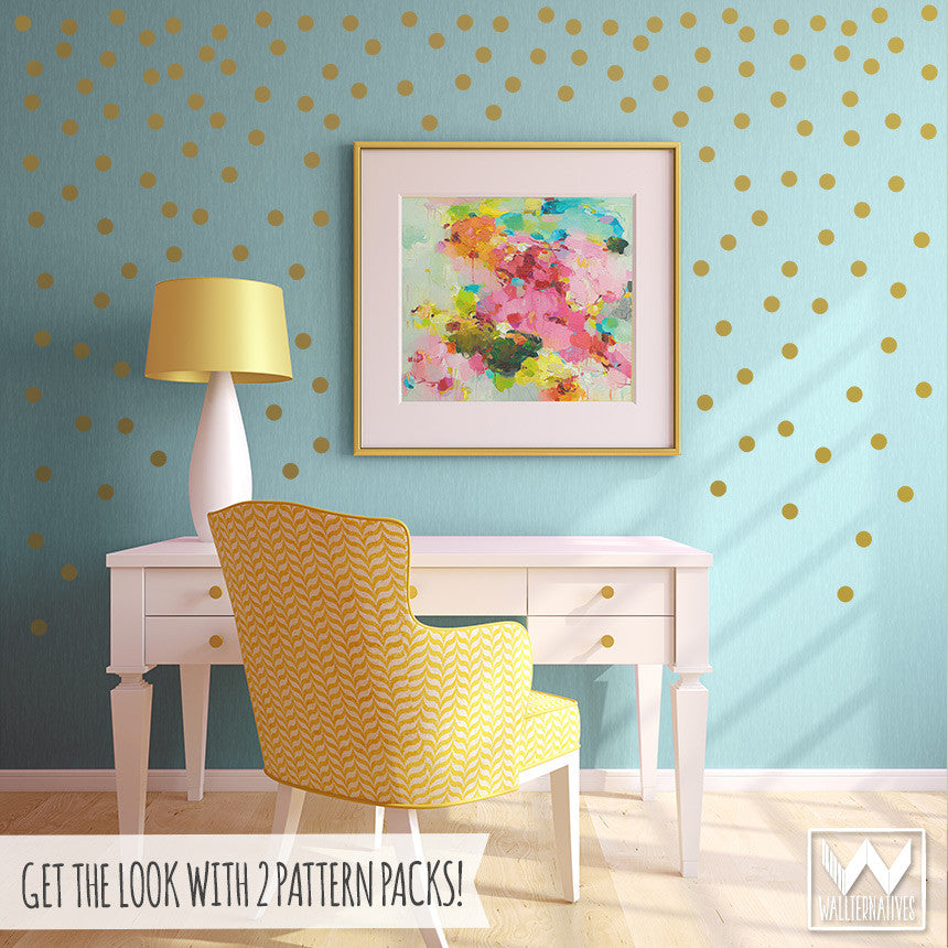 Wall Decals In Dorms : Dots vinyl pattern pack minis shapes wallternatives