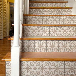 Decorative Stair Tile Decals Adhesive Wallpaper Stairs - Wallternatives wallternatives.com