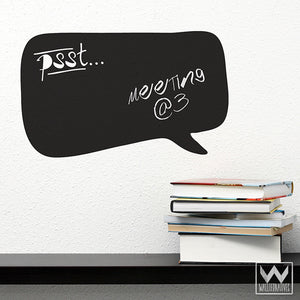 Peel and Stick Thought Bubble Chalkboard Vinyl Wall Decals for Writing - Wallternatives