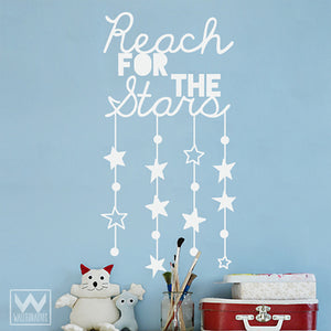 Reach for the Stars Inspirational and Motivational Wall Quote - Colorful Wall Decals from Wallternatives