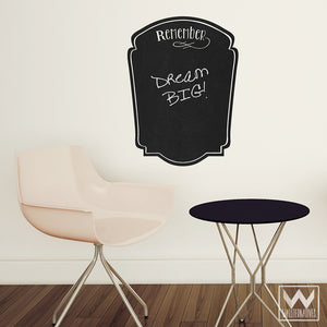 Peel and Stick To Do List Chalkboard Vinyl Wall Decals for Writing - Wallternatives