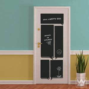 Easy Peel and Stick Chalkboard Vinyl Wall Decals for Writing Notes and Reminders - Wallternatives