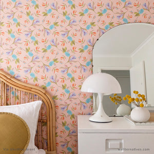 Tropical Flower Pattern Bari J. Removable Wallpaper