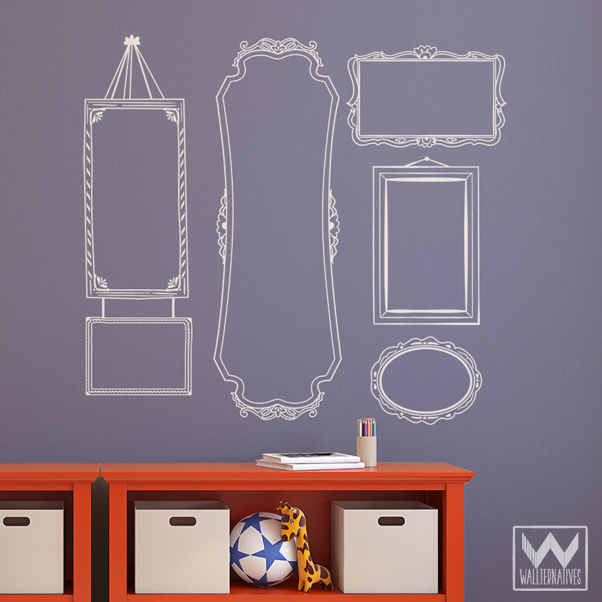 Vintage Wall Sticker Frame Vinyl Wall Decal Decorative Set For Walls ...