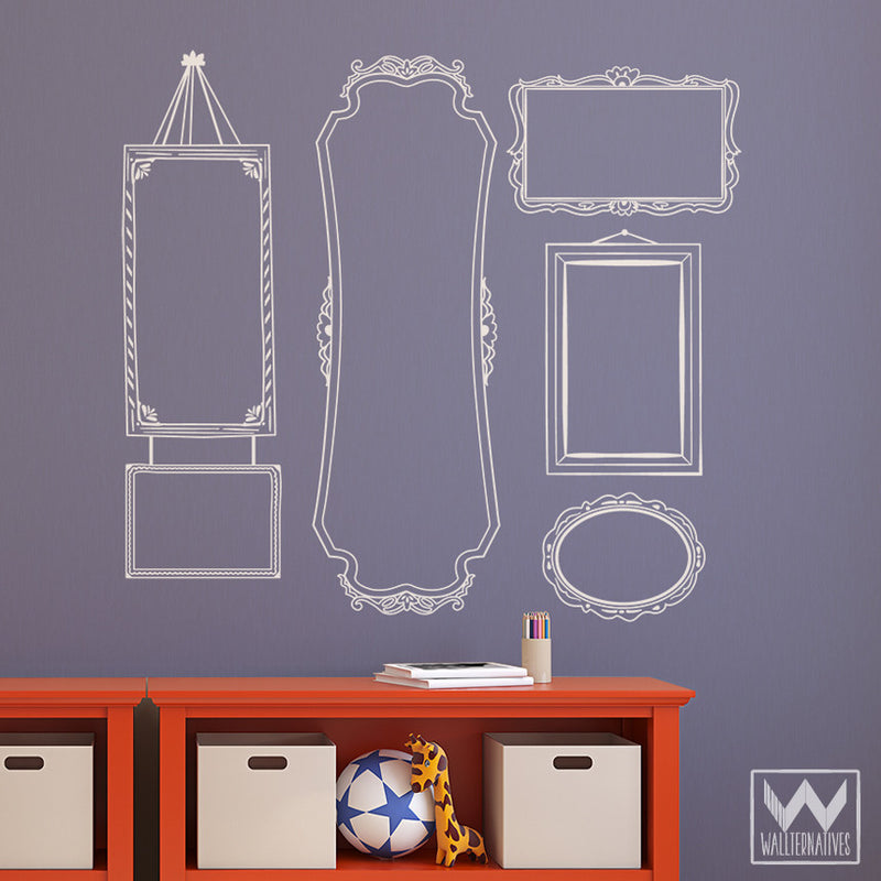 vintage wall sticker frame vinyl wall decal decorative set for walls