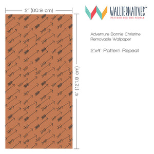 Modern and Rustic Tribal Arrows - Removable Wallpaper on Accent Wall Decor - Wallternatives