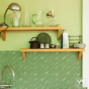 Trendy Wallpaper You Can Peel and Stick on Accent Wall for Modern Tribal Arrow Print Pattern