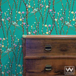 Pussywillow Bari J. Removable Wallpaper