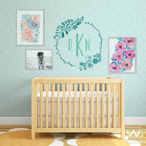 Wildflowers Floral Frame Vinyl Wall Decal