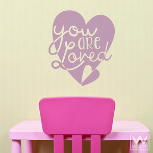 Colorful Love Heart Vinyl Wall Decals to Stick On Walls - Wallternatives