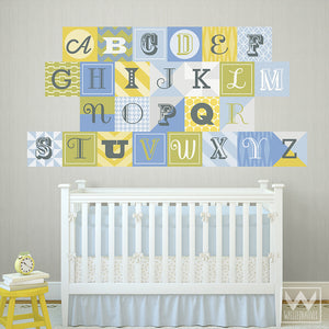 School or playroom decor - Learning the alphabet letters wall decals
