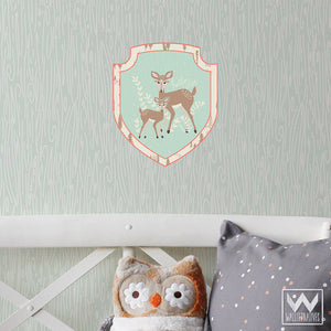 Cute Deer Animal Removable Wall Decals by Bonnie Christine - Kids Room Decorating - Wallternatives