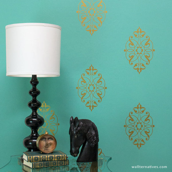 Arabesque Motif Vinyl Wall Decal Graphic Sticker For