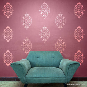 Chic and Elegant Motifs Vinyl Wall Decals - Traditional Interior Design and Wall Decor - Wallternatives