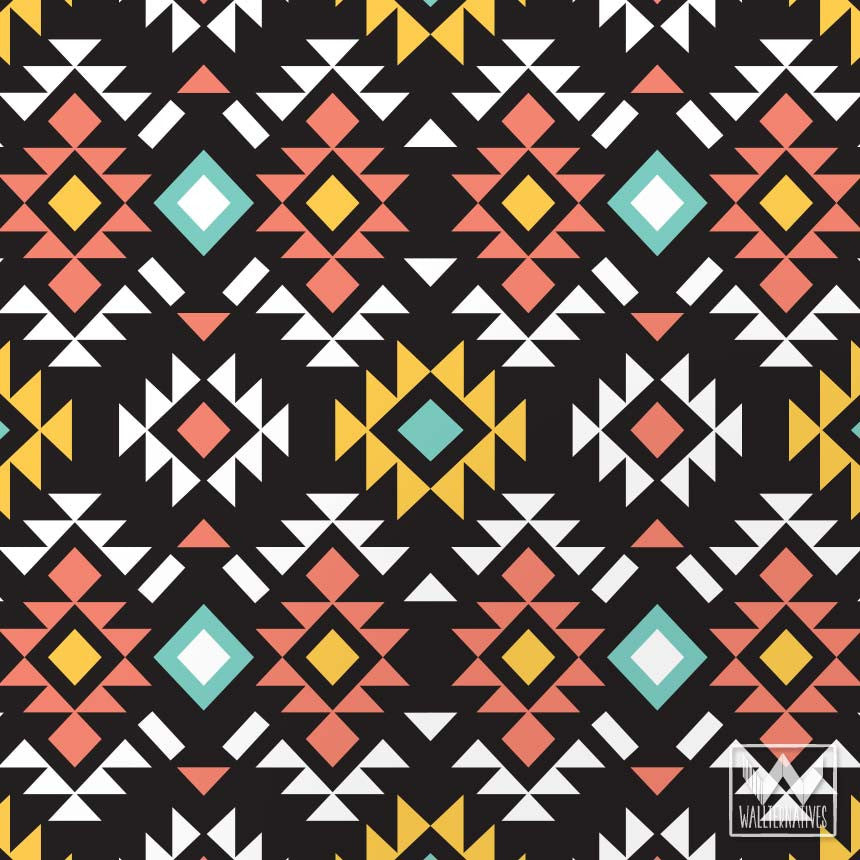 Bold Colorful Modern Aztec Print Pattern