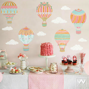 Hot Air Balloons Removable Wall Decals