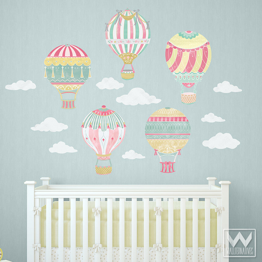 ... Cute Nursery Decor Using Hot Air Balloon Removable Wall Decals From  Wallternatives ... Part 50