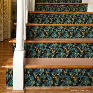 Bari J Design Art Stair Wallpaper Design Stair Pattern Stairs Decals - Wallternatives wallternatives.com