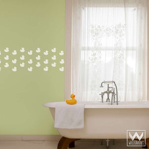 Cute Baby Nursery or Bathroom Decor - Rubber Duck Stickers Wall Decals
