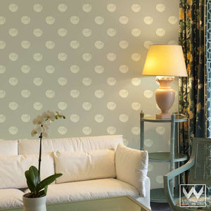 Beach Decor & Shell Pattern Designer Wallpaper - Removable Wallpaper from Wallternatives