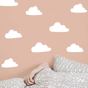 Small Clouds Vinyl Wall Decals for Easy DIY Decorating - Wallternatives