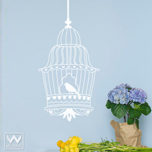 Vintage Bird Cage Wall Art - Vinyl Wall Decals from Wallternatives