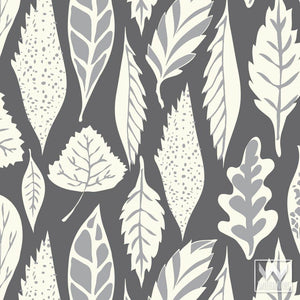 Modern Tree Leaves Removable Wallpaper Patterns from Wallternatives - Easy Wall Decor Ideas
