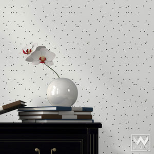 Trendy Designer Removable Wallpaper in Black and White - Wallternatives