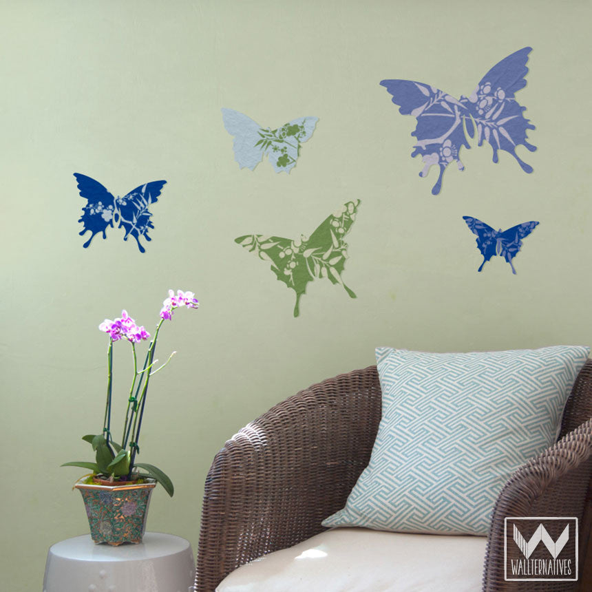 ... Removable Butterfly Wall Decals For Butterfly Art In Dorm Or Kids Room  ...