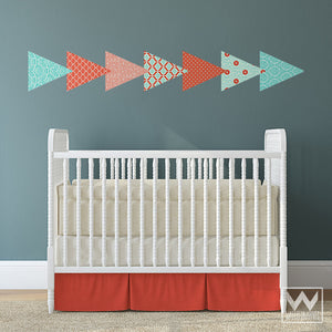 Pink and Blue Baby Nursery Decor - Easy DIY Removable Wall Decals