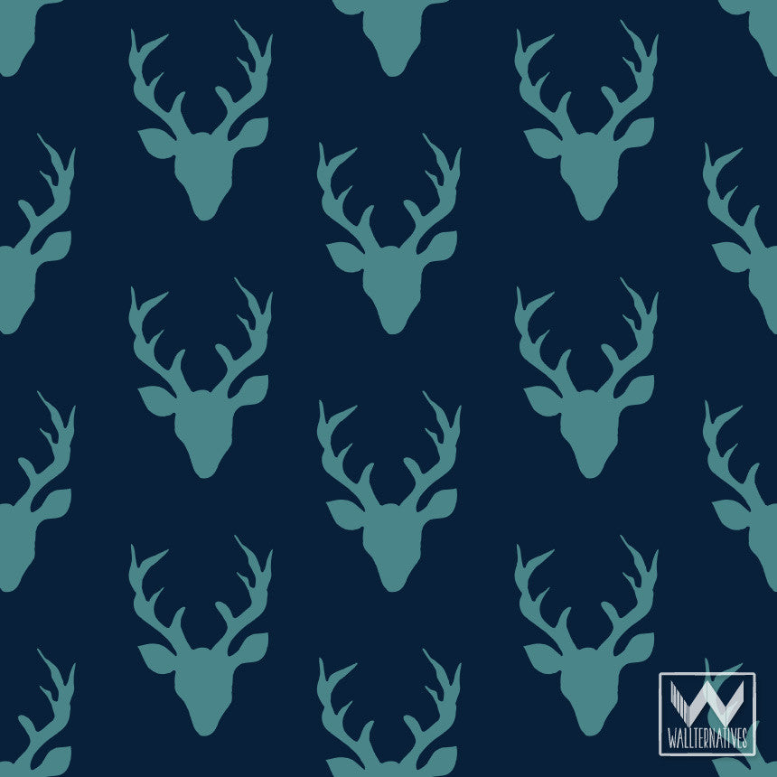 Deer Antlers Pattern On Removable Wallpaper From Bonnie