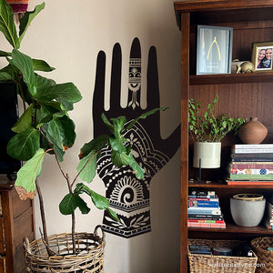 Fatima Henna Hands Vinyl Wall Decal