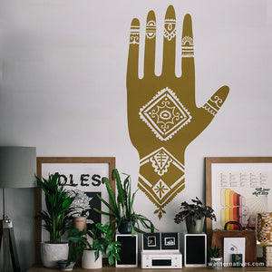 Habiba Henna Hands Vinyl Wall Decal