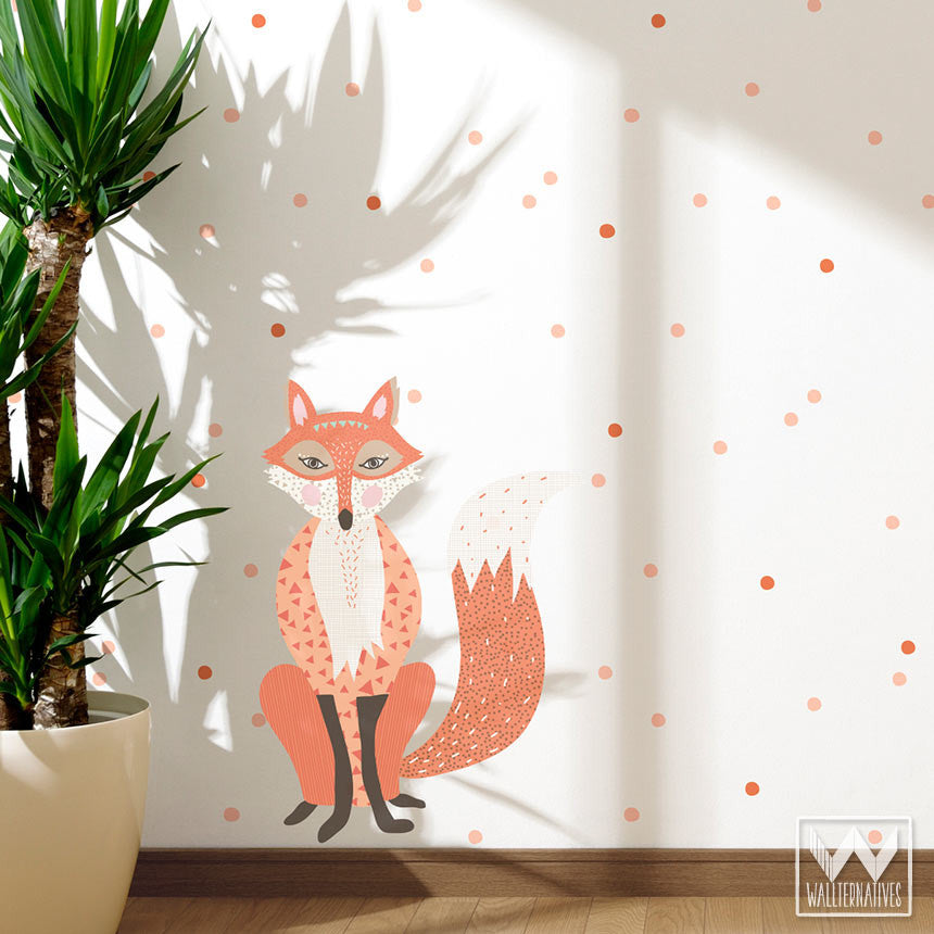 ... Decorating A Forest Animal Themed Kids Room With Fox Removable Wall  Decals And Stickers ...
