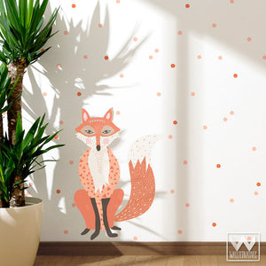 Decorating a Forest Animal Themed Kids Room with Fox Removable Wall Decals And Stickers