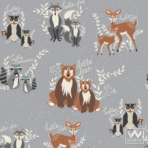 Designer Removable Wallpaper for Cute Boys Room and Nursery Decor - Forest Animals Themed Room Ideas from Wallternatives