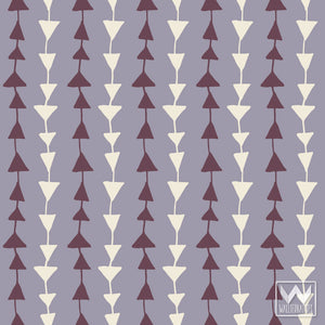 Purple Modern & Geometric Triangles Pattern on Removable and Adhesive Wallpaper from Wallternatives