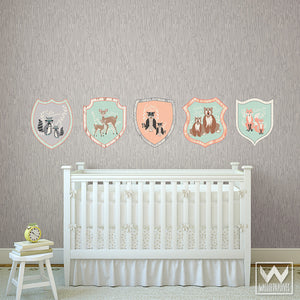 Peel and Stick Removable Wall Decals - Modern Animals for Cute Nursery Decor Ideas from Designer Bonnie Christine