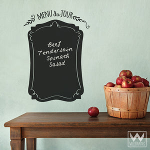French Quote Menu Chalkboard Vinyl Wall Decals for Kitchen Decor - Wallternatives