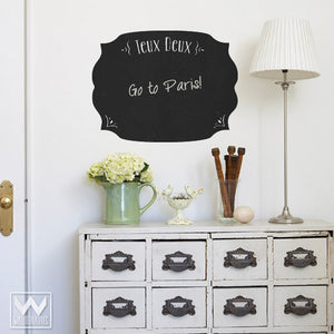 Easy Peel and Stick Chalkboard Vinyl French Do To List Wall Decals for Writing Notes and Reminders - Wallternatives