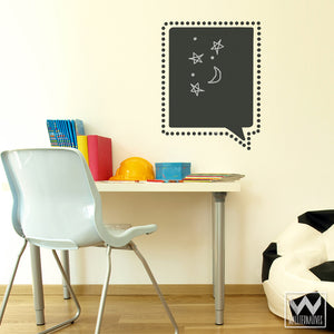 Modern Speech Bubble Chalkboard Vinyl Wall Decals - Kids Room Decor from Wallternatives